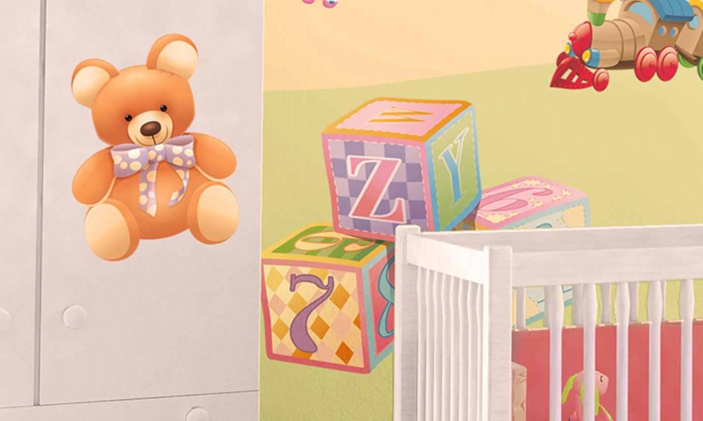 Stickers murali bambini cameretta il mondo dei - Camerette gioco per bambini ...